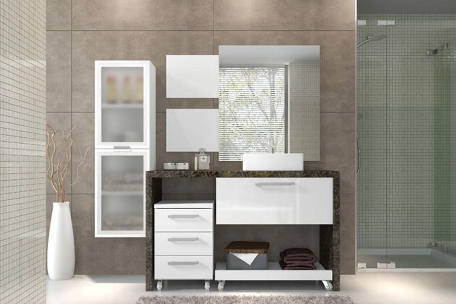 Banheiro  Móveis Modulados -> Moveis Planejados Para Pia De Banheiro