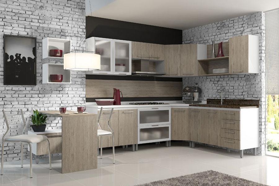Wibamp com Armario De Cozinha Preto E Branco Lojas Cem ~ Idéias do Projeto da Cozinha para a