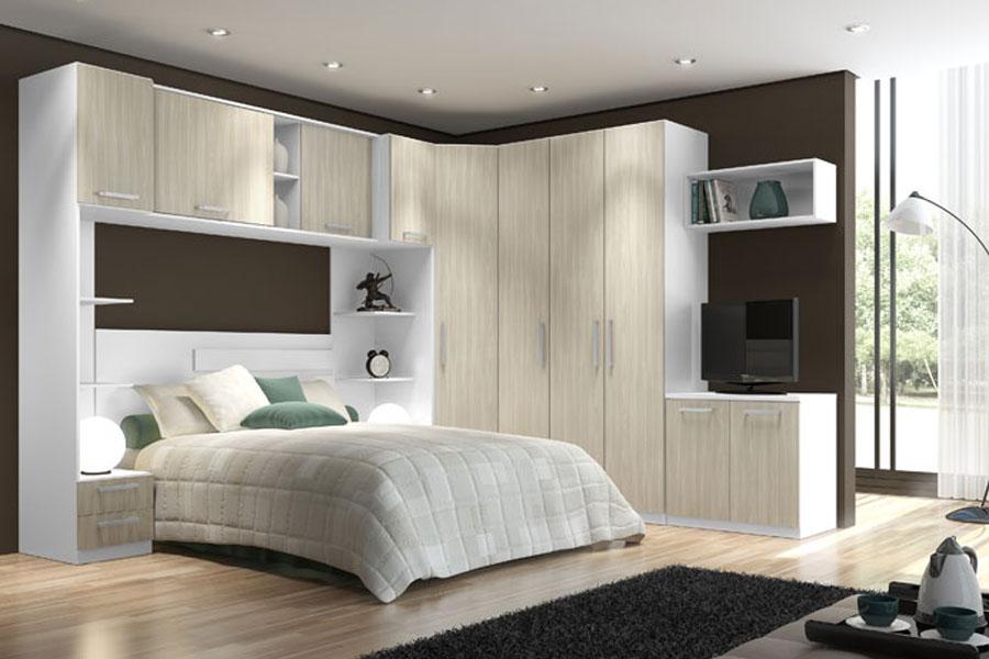 Quarto de casal dormit rios modulados for Dormitorio para quarto pequeno