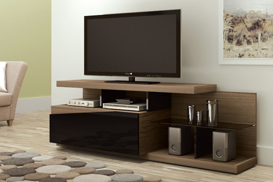 Imagens De Moveis Para Sala De Tv ~ rack para tv luxor wood preto rack para tv porto